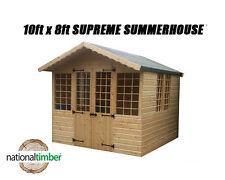 10FT x 8FT SUMMER HOUSE SUPREME LOG CABIN OFFICE BAR SHED HIGHEST QUALITY TIMBER