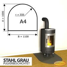 Kaminbodenplatte Funkenschutz ✔ Ofenplatte Ofen ✔ Kaminofenplatte Stahl grau A4