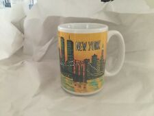 Vintage New York City Coffee Mug, With Twin Towers, Statue Of Liberty