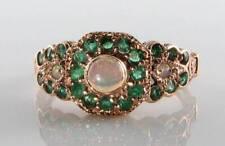 Emerald Rose Gold Ring Art Deco Fine Jewellery