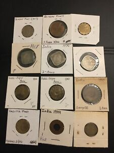 Lot of 12 British India coins - Mixed Grades- #2- Please See Pics