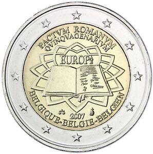 2 Euro Belgium 2007 * 50th Anniversary - Signing of the Treaty of Rome * Unc