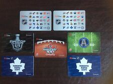Tim Hortons Set Of Collector Gift Cards Mint Condition.