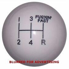 White F ing Fast Mustang 5 Speed shift knob M12x1.25 thread U.S MADE