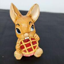 Vintage Pendelfin Rabbit Picnic Midge Hand Painted Made in England Easter Guc