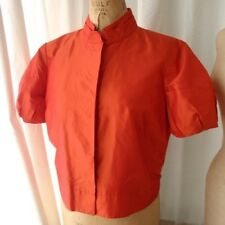 ST. JOHN SoCa Flame Short Sleeve Silk Blouse NWT M