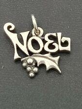 "James Avery SS ""Noel"" Mistletoe Charm"