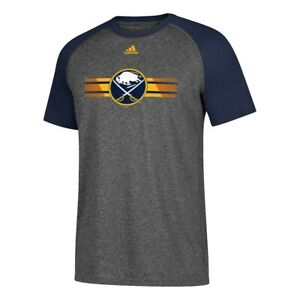 "Buffalo Sabres NHL Adidas Men's ""Resurface"" Grey Climalite Raglan T-Shirt"