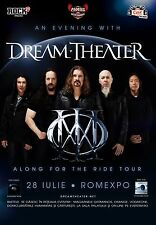 "DREAM THEATER ""ALONG FOR THE RIDE TOUR"" 2014 BUCHAREST CONCERT POSTER-Metal,Rock"