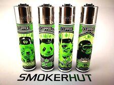 Clipper Lighter Set - Weed 420 Animals Panda Bear Rare Full Collection - x4pcs
