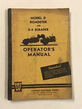 LeTourneau-Westinghouse Model D Roadster with E-9 Scraper Operator's Manual