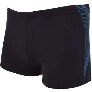 Speedo Mens Graphic Endurance Swimwear Swimming Trunks Shorts - Black/Blue