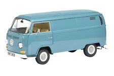 VOLKSWAGEN T2 BOX VAN BLUE 50 YEARS ANNIVERSARY 1/18 DIECAST BY SCHUCO 450019700