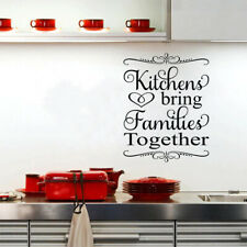 Kitchens Bring Families Together Wall Sticker Quote Inspirational Vinyl Sticker