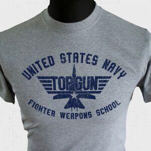 Top Gun Themed T Shirt Fighter School Maverick Goose Jet United States Cool
