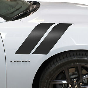 """4"""" Front Fender Hash Marks Stripes Vinyl Decal Fits Dodge Charger and Challenger"""