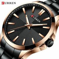 CURREN Watches Men Fashion Watch Stainless Steel Wristwatch Business Waterproof