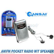 Sansai AM/FM Pocket Radio with Built-in Speaker,OZ Standard,OZ Stock
