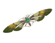 Sterling Silver Wide Wing Span Butterfly Pin with Multi Color Enamel Wings