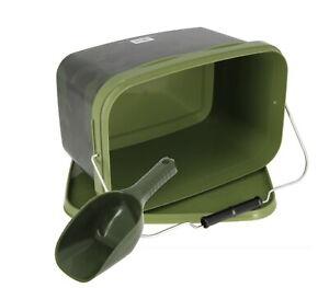 Baiting Spoon Camo Bait Buckets Set for Spod Particles Boilies Pellets 2 Sizes