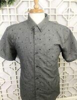 Molokai Surf Co Mens XL Shirt Short Sleeve Button Helm and Anchor Pattern