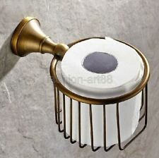 Antique Brass Wall Mounted Bathroom Accessory Toilet Paper Holder fba148