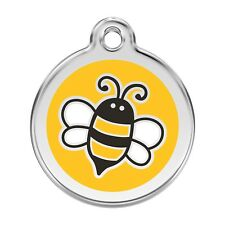 Red Dingo Dog ID, Pet Tag Charm FREE Personalized Engraving YELLOW BUMBLE BEE