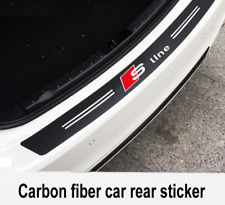Audi Carbon Fiber Sline Car Bumper Sticker Stylish Boot Emblem Black 3D 101x12cm