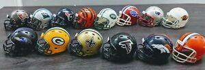 Lot of 14 Riddell Mini Mini Football Helmets Original different Teams NFL