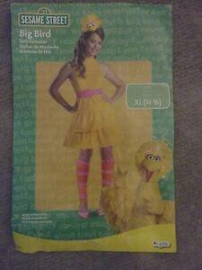 Sesame Street Big Bird Costume Juniors Size XL