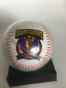 Roberto Clemente 25th anniversary1997 replica signature baseball with stand