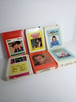 6 COUNTRY WESTERN 8 TRACK TAPES CHARLEY PRIDE MARTY ROBBINS BOBBY BARE and MORE