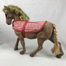 STEHA West German Flocked Horse Vintage 1960s with Hoof Wheels