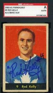 Red Kelly 1960 61 Parkhurst SGC Coa Autograph Authentic Hand Signed