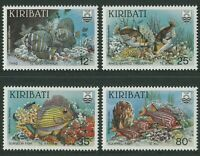 KIRIBATI: REEF FISH 1985 - MNH SET OF FOUR (G02-PB)