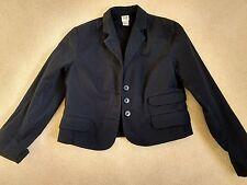 GAP Ladies Shorter Length Unlined Dark Navy Cotton Blazer/Jacket; UK 10.