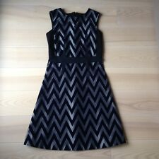 Women's Sportmax by Max Mara navy grey velvet dress size S