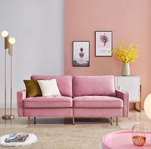 Pink Sofa Couch 2 Sitzer Polstersofa Wohnzimmersofa Schlafsofa Loungesofa 180cm