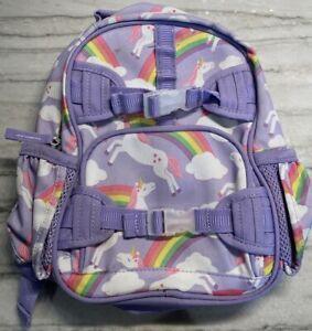 Pottery Barn Kids Mini Mackenzie Purple Unicorn Backpack Rainbow Preschool PreK