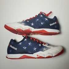 Reebok Womens Crossfit Shoes Size 7 Speed USA Flag Colorful Stripes BD3015 Blue