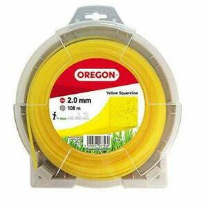 OREGON YELLOW SQUARE TRIMMER NYLON STRIMMER LINE 2mm x 108 metres 69-408