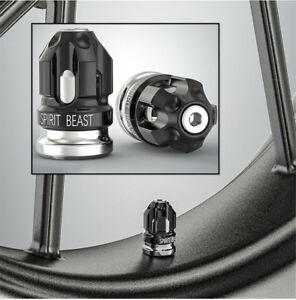 2 Pcs Aluminum Alloy Motorcycle Tire Decor Bullet Shape Tyre Valve Gas Cap Cover