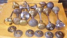 Brass & Bronze Door Knobs lot of 17 ~Plus 6 Doorknob Rosette ~ Vintage Hardware