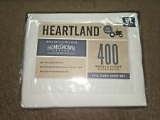 New Heartland, Homegrown Cotton, 400 Thread Count, Full Size Set, White Color