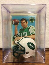 New York Jets Legend Joe Namath Helmet Topps NFL Display Shadow Box