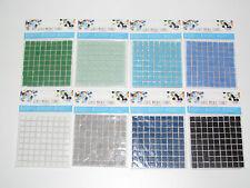 Planche Mosaïque Verre 10x10 mm x81 Pieces Glass Mosaic Stones Couleur au choix