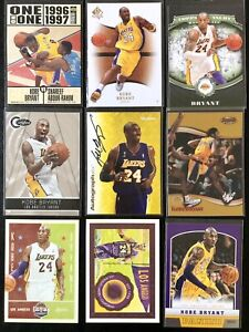Kobe Bryant 1996 Rookie - SP Authentic Auto Graphics Panini Lot x9 Cards 🔥LooK