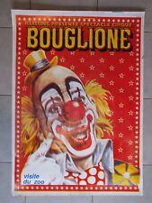 Belle affiche cartonnée cirque Bouglione - Klissing