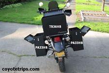 Motorcycle Aluminum Pannier, 33 liters, Black, Hinged Lid; BMW GS, KLR, Tenere