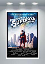 Póster Grande Clásica Vintage película de Superman Art Print